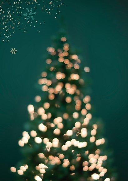 Zakelijke kerstkaart merry christmas lampjes kerstboom 2