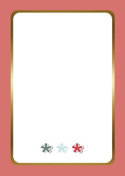 Zakelijke Kerstkaart - Merry Christmas - Modern Achterkant