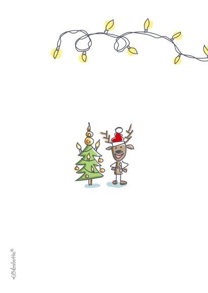 zakelijke kerstkaart met 9 rendieren 2