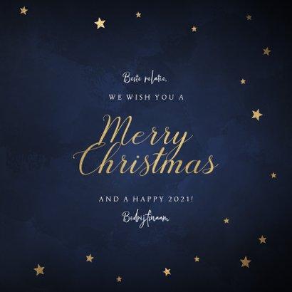 Zakelijke kerstkaart met feestelijke sterren Merry Christmas 3