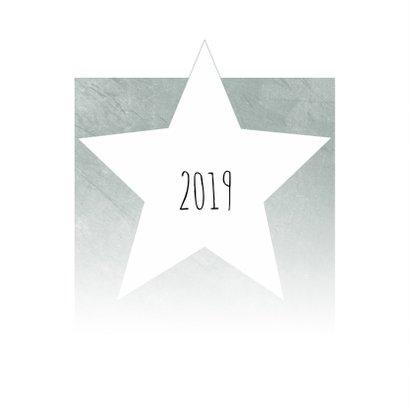 Zakelijke kerstkaart met ster in groengrijs 2