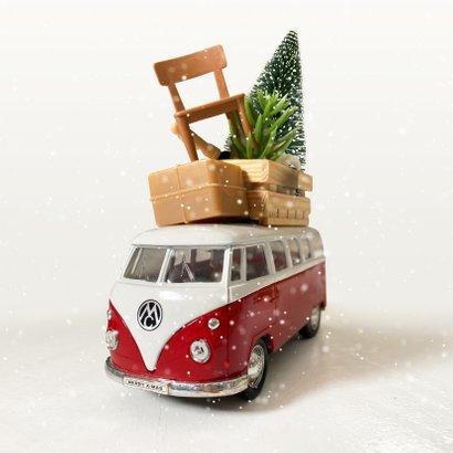 Zakelijke kerstkaart met Volkswagenbusje transportbedrijf 2