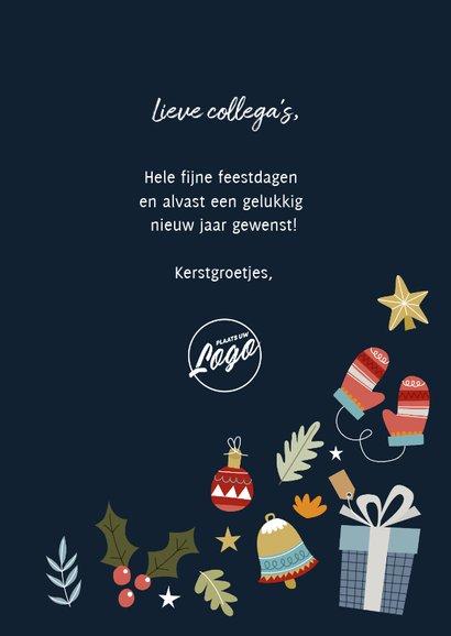 Zakelijke kerstkaart met vrolijke illustraties en typografie 3