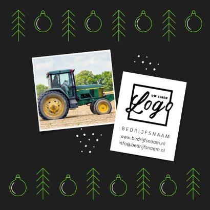 Zakelijke kerstkaart modern grafisch kerstballen foto logo 2