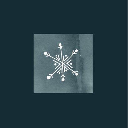 Zakelijke kerstkaart, modern met waterverf en ijskristal 2