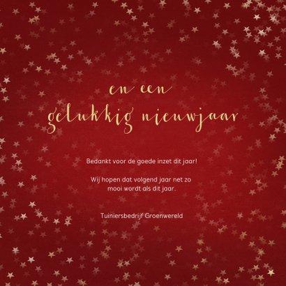 Zakelijke kerstkaart rood kerstboom- Een gouden kerst 3