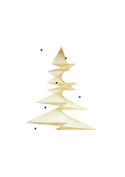 Zakelijke kerstkaart stijlvol goud grafisch sterren 2