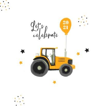 Zakelijke kerstkaart tractor agrarisch landbouw hovenier 2
