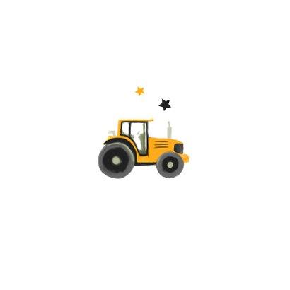 Zakelijke kerstkaart tractor agrarisch landbouw hovenier Achterkant