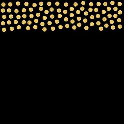 Zakelijke kerstkaart vierkant confetti goud 2