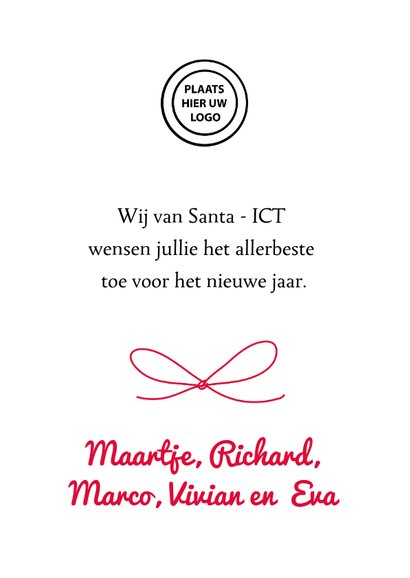 """Zakelijke kerstkaart voor ICT met """"broncode"""" 3"""
