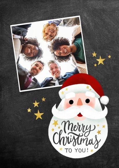 Zakelijke kerstkaart vrolijke kerstman en Merry Christmas 2