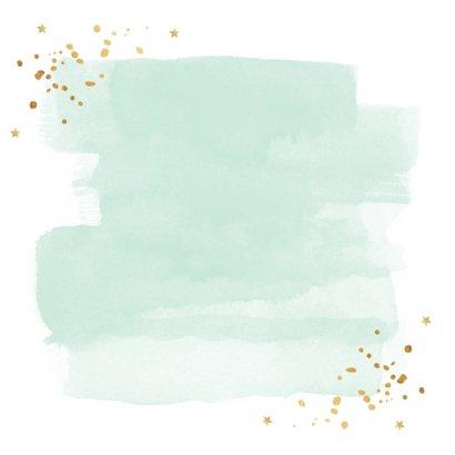 Zakelijke kerstkaart waterverf sterren goud 2