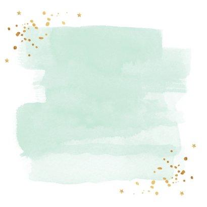 Zakelijke kerstkaart waterverf sterren goudlook 2