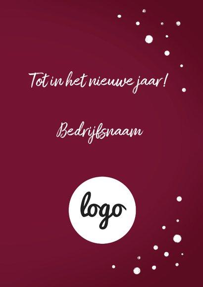 Zakelijke Kerstkaart Wijn goud met logo 3