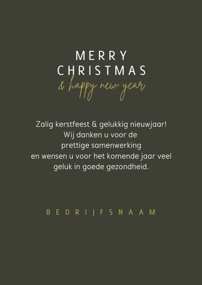 Zakelijke kerstkaart winter merry christmas happy new year 3