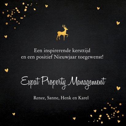 Zakelijke kerstkaart zwart goudlook confetti 3