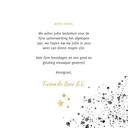 Zakelijke kerstkaart zwarte waterverf en gouden typografie 3