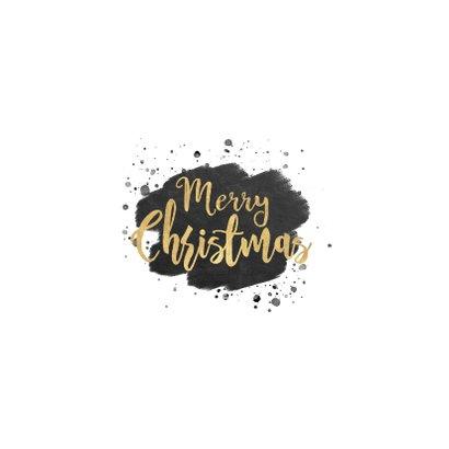 Zakelijke kerstkaart zwarte waterverf en gouden typografie Achterkant
