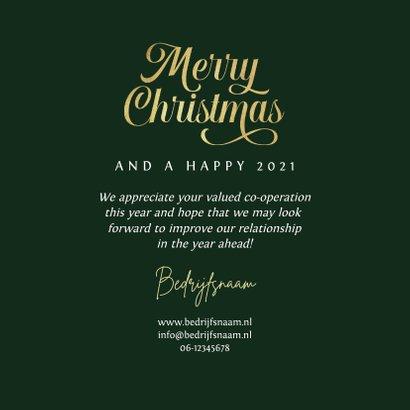 Zakelijke merry christmas kaart art deco patroon goud groen 3