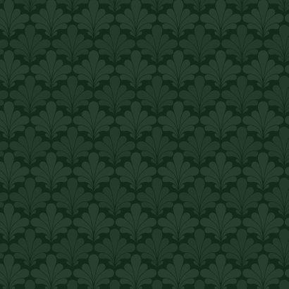 Zakelijke merry christmas kaart art deco patroon goud groen Achterkant