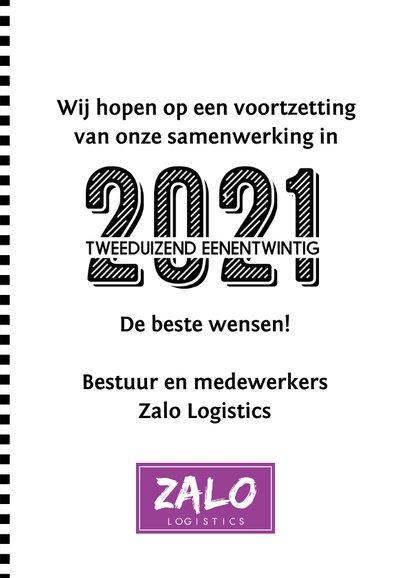 Zakelijke nieuwjaarskaart 2021 u-vorm 3