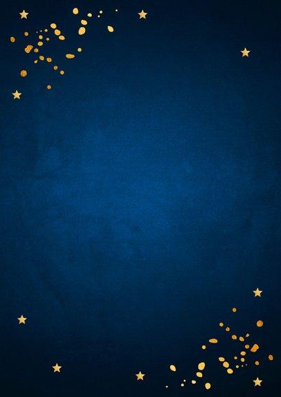 Zakelijke nieuwjaarskaart donkerblauw goudlook 2