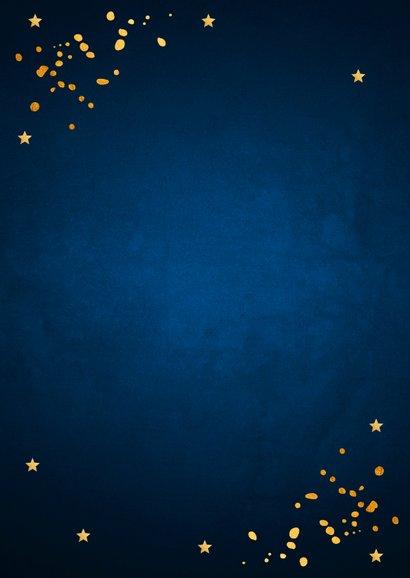 Zakelijke nieuwjaarskaart donkerblauw goudlook Achterkant