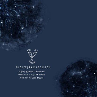 Zakelijke nieuwjaarskaart galaxy sterren vuurwerk 2
