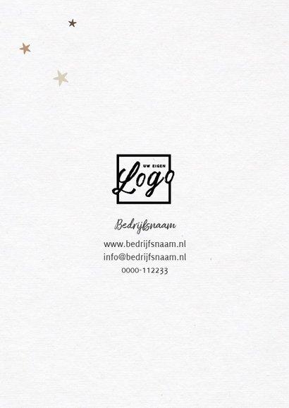 Zakelijke nieuwjaarskaart houtlook met fotocollageboom 2