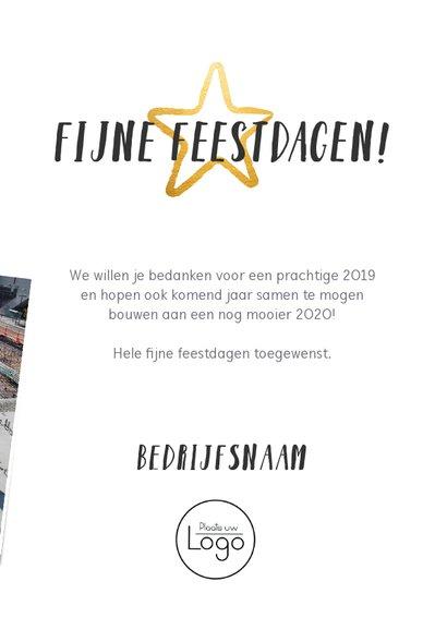 Zakelijke nieuwjaarskaart terugblijk 2019 fotocollage 3