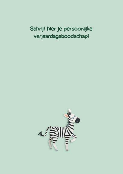 Zebra felicitatiekaart  3