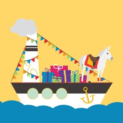 Zie ginds komt de pakjesboot van Sinterklaas 2