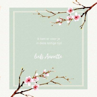 Zomaar ansichtkaart met watercolor bloemen 3