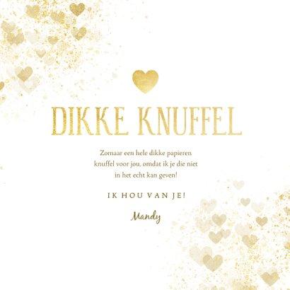 Zomaar kaart dikke knuffel gouden hart 3