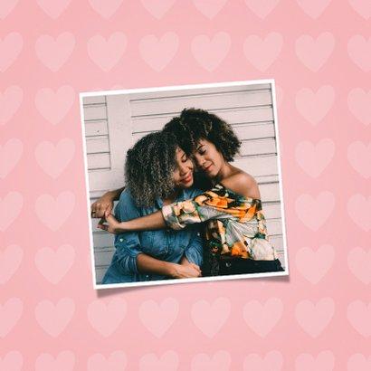 Zomaar kaart dikke knuffel met hartjes 2