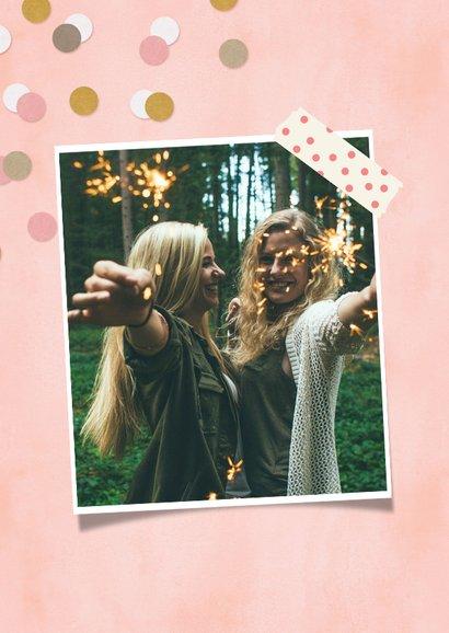 Zomaar kaart een kus voor de liefste zus met confetti 2