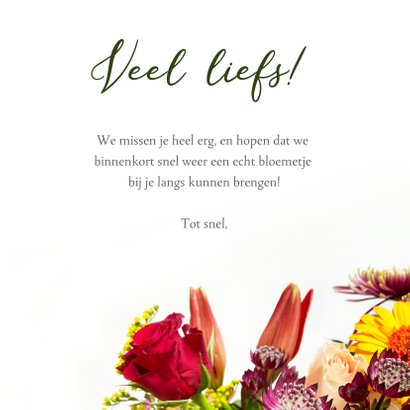 Zomaar kaart met vrolijke bloemen en klassieke typografie 3