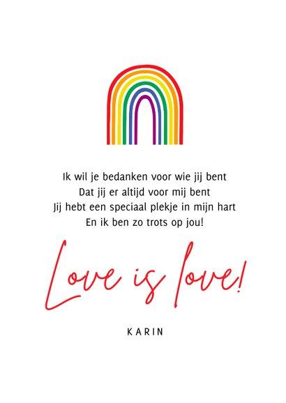Zomaar kaart pride regenboog trots op jou 3