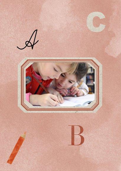 Zomaar kaart trots op jou leerling rode ABC en potloden 2