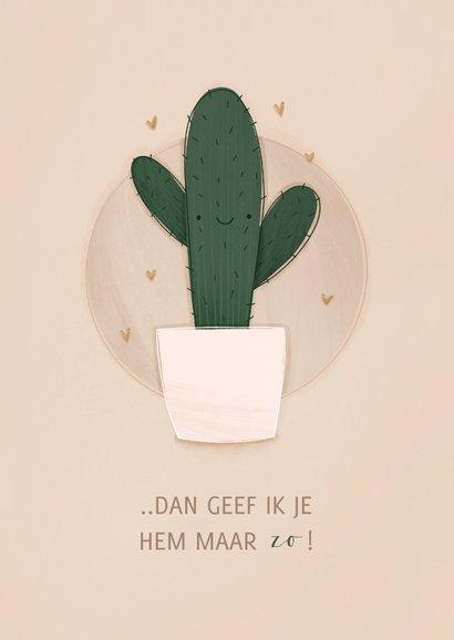 Zomaar kaartje cactus ik wou dat ik je een knuffel kon geven 2