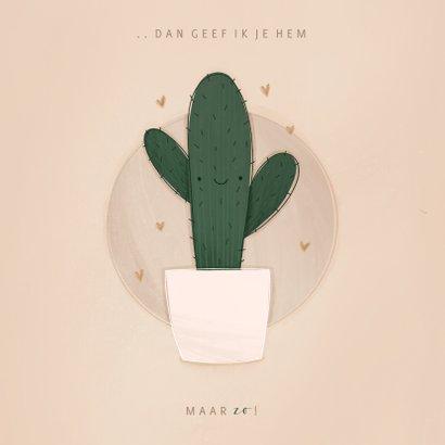 Zomaar kaartje ik wou dat ik je een knuffel kon geven cactus 2