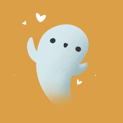 Zomaar kaartje - Knuffel Spookje met hartje 2