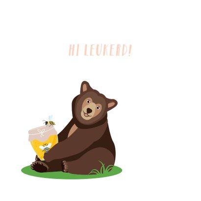 Zomaar kaartje met lieve dieren uit het bos die hi zeggen 2