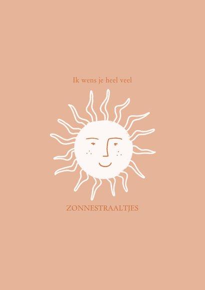 Zomaar kaartje positiviteit zonnetjes in roest 2