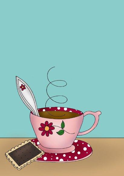 Zomaar - Kat drink een kopje thee of koffie  2