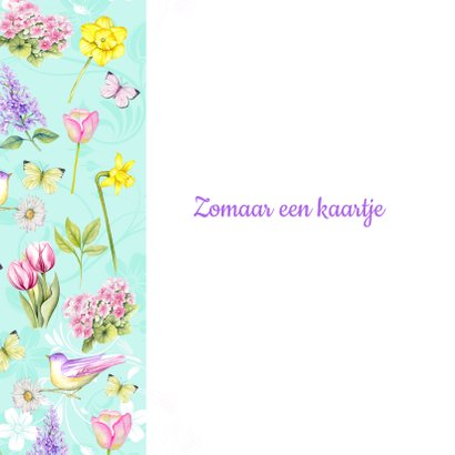 Zomaar voorjaarsbloemen vogeltje 2