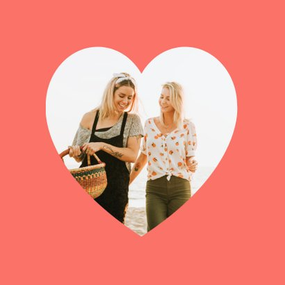 Zomaar vriendschapskaart hartjes dikke knuffel veel liefs 2