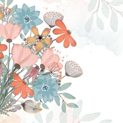 Zomaarkaart met kleurig boeket bloemen  2