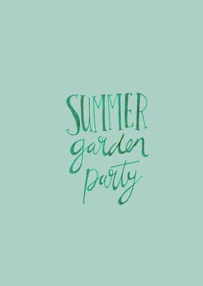 Zomer tuinfeest uitnodiging  3